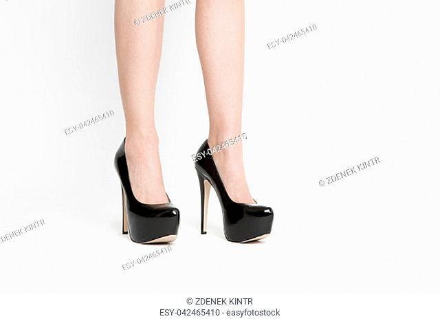 cute sexy black girl high heel shoes