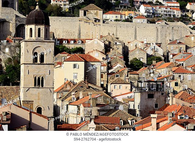 View of Old Town of Dubrovnik, Croatia