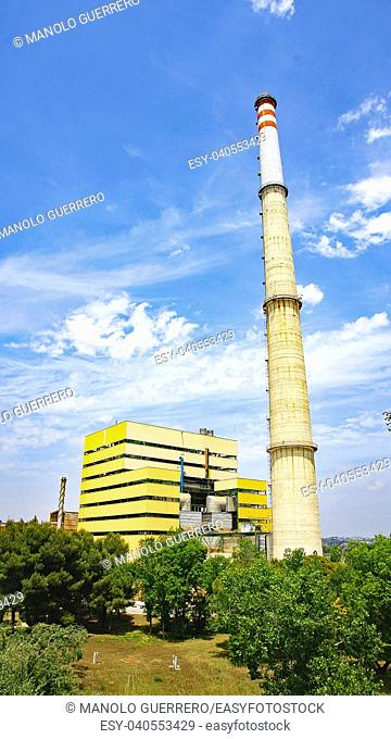 Thermal power plant of Foix, Cubelles, Barcelona, Catalunya, Spain
