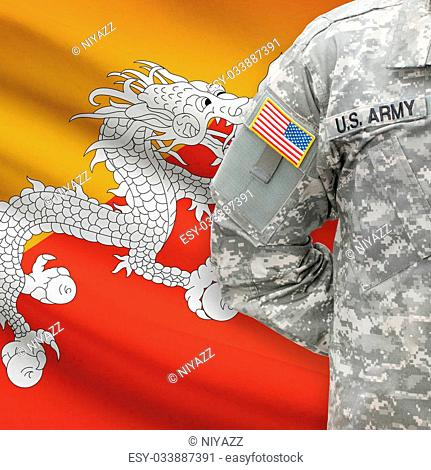 Force flag bhutan Stock Photos and Images   age fotostock