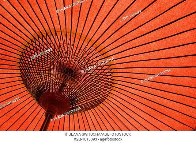 Japanese red paper umbrella