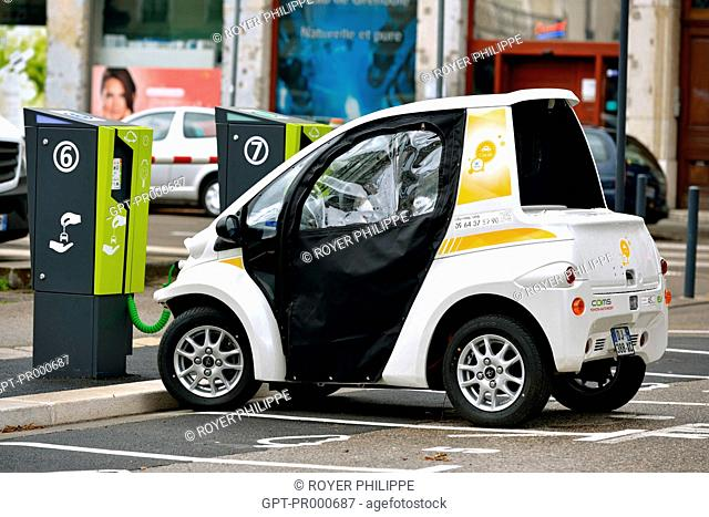 ELECTRIC RENTAL CAR IN GRENOBLE, ISERE, RHONE ALPES, FRANCE
