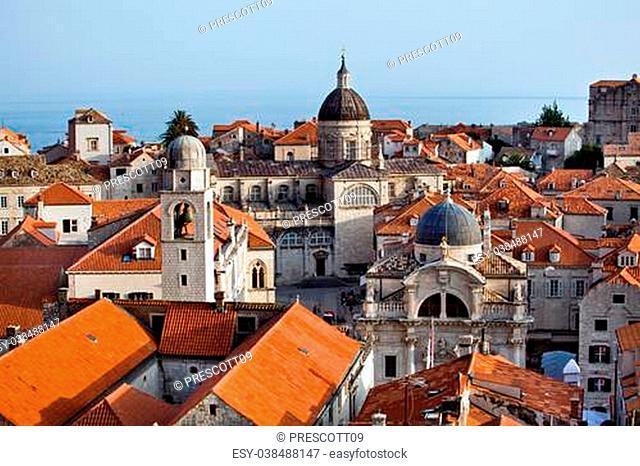 The landscape of Dubrovnik old city, Montenegro