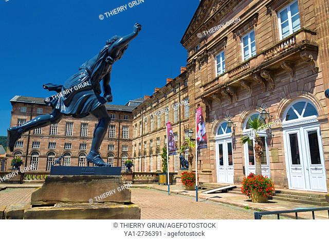 France, Bas Rhin (67), Saverne town, Palace castle des Rhoan