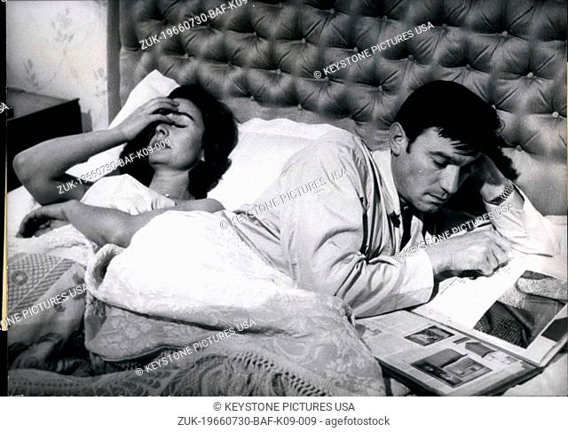 Jul. 30, 1966 - Pictured is a scene from the English film 'Life at the Top,' which is based on the novel by John Braine. It is the sequel to 'Room at the Top