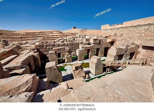 EGYPT, ABYDOS, 07.11.2016, ruins of The Osireion in Abydos, Egypt, Africa - Abydos, Egypt, 07/11/2016