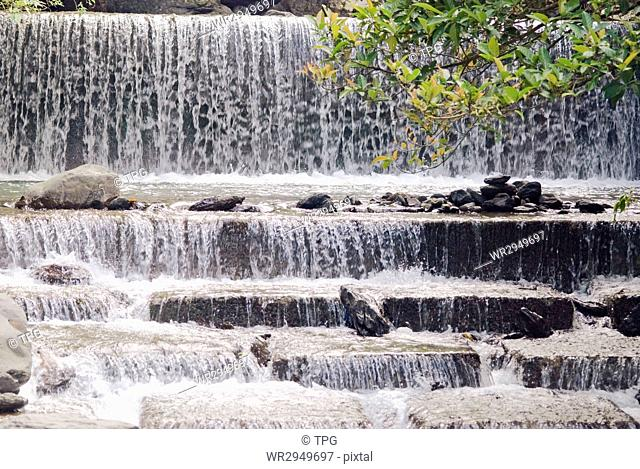 Waterfall with fish ladder, Asia