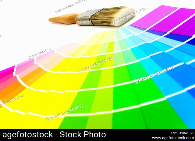 Paintbrush With Color Swatches