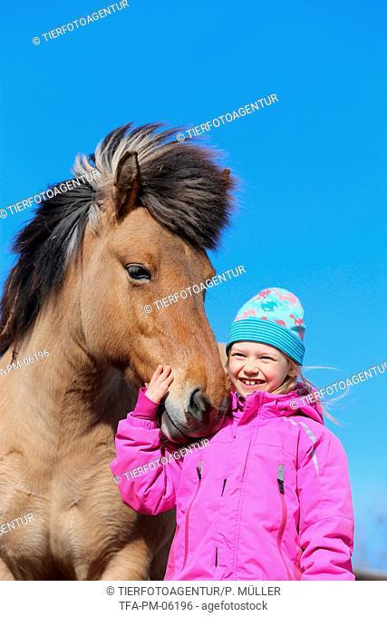 girl and Icelandic horse