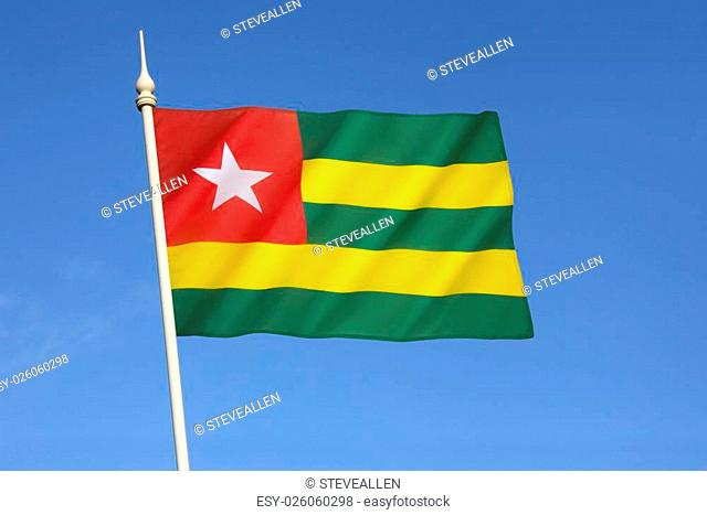 Flag of Togo - It uses the popular pan-African colors and was adopted on 27th April 1960