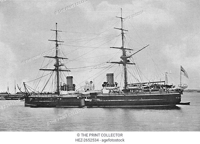 'H.M.S. Inflexible in 1880', c1880, (1904). HMS Inflexible was an Invincible-class battlecruiser of the British Royal Navy