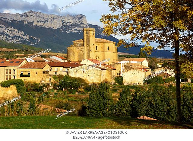 Sierra Cantabria in the background. Samaniego. Araba. Rioja Alavesa. Basque Country. Spain