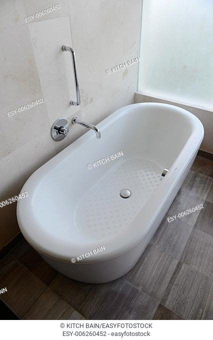A shot of a luxury bath in a hotel room