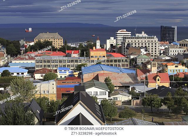 Chile, Magallanes, Punta Arenas, skyline, Strait of Magellan,