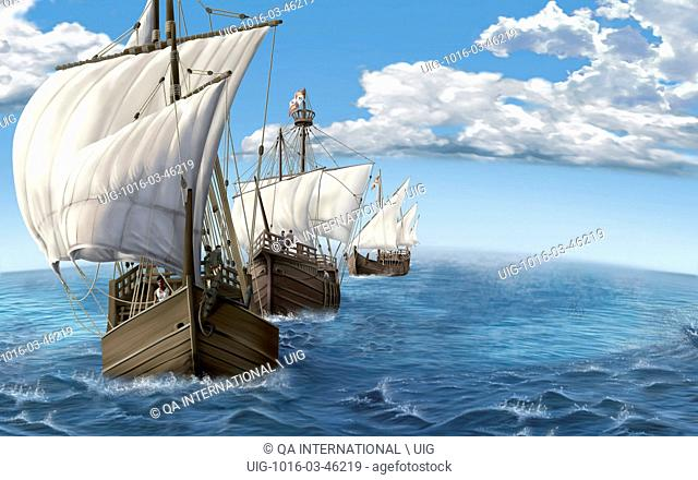 Fast ship with three or four masts; it was used especially in the 15th and 16th centuries for exploration