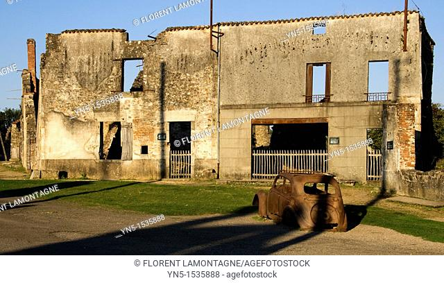 Martyr's village of Oradour sur Glane, Haute-Vienne, in Limousin, near Limoges where the 10th of June 1944, 642 persons were massacred and killed by the german...