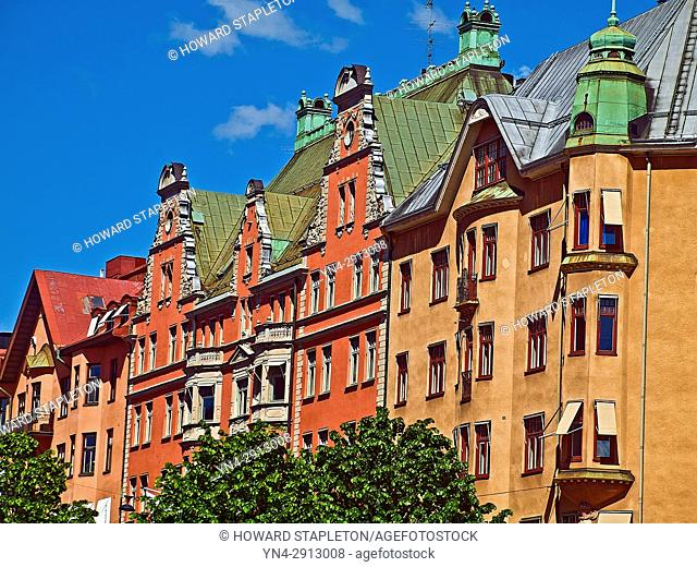 Houses in Stockholm, Sweden