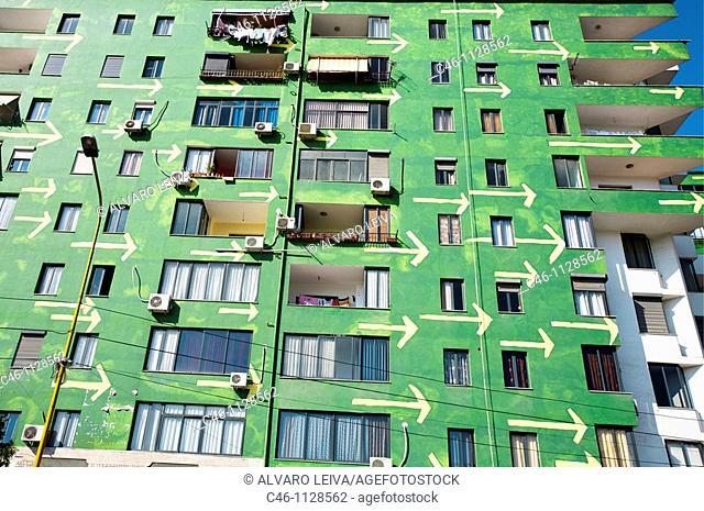 Apartments building. Tirana. Albania