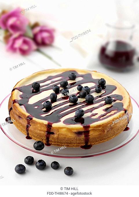 Whole blueberry cheesecake