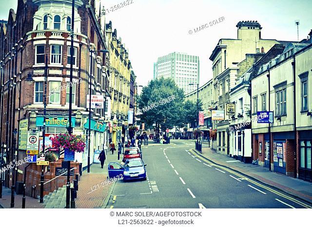 Street. High Street, Croydon, London, England, Great Britain, United Kingdom