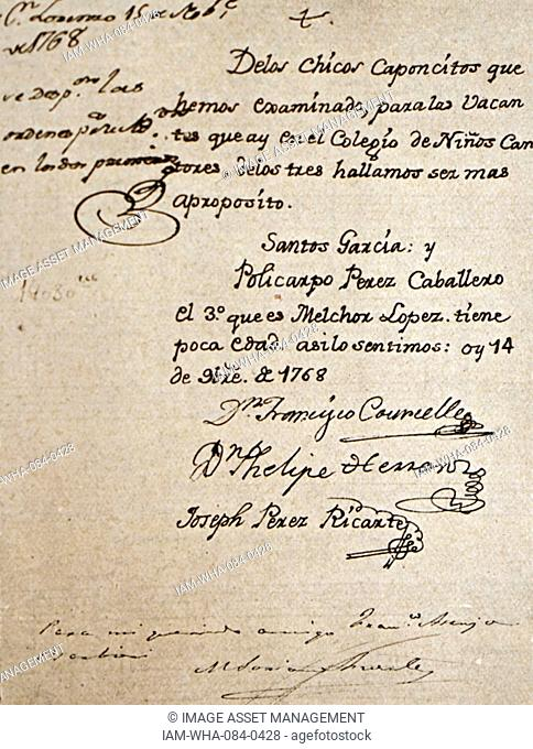 Handwritten letter by Francesco Corselli (1705-1778) an Italian composer of the pre-classical period. Dated 18th Century