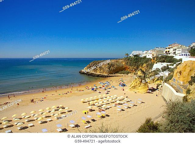 Portugal, Algarve, Albufeira, Town Beach