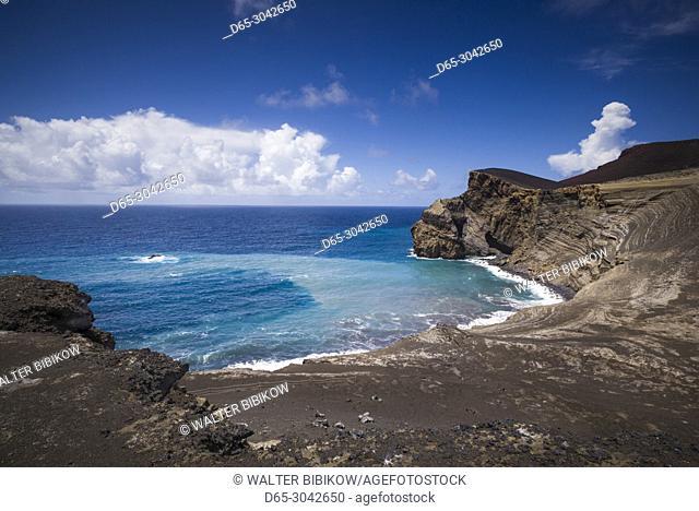 Portugal, Azores, Faial Island, Capelinhos, Capelinhos Volcanic Eruption Site, landscape