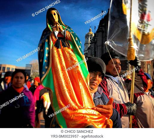 during the annual pilgrimage to the Our Lady of Guadalupe Basilica in Mexico City, Mexico