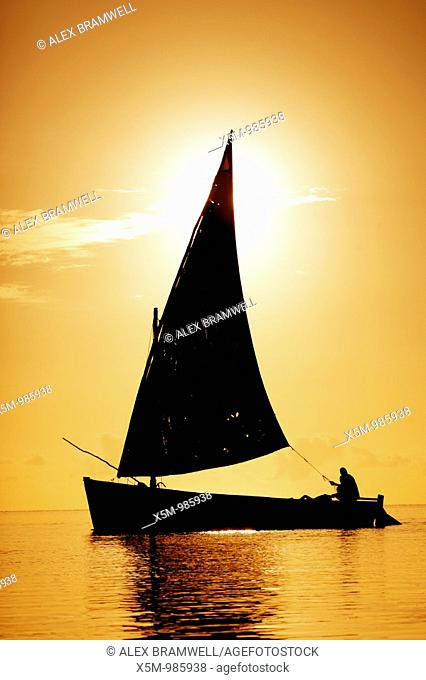 Dhow off the Coast of Mozambique at Vilanculos