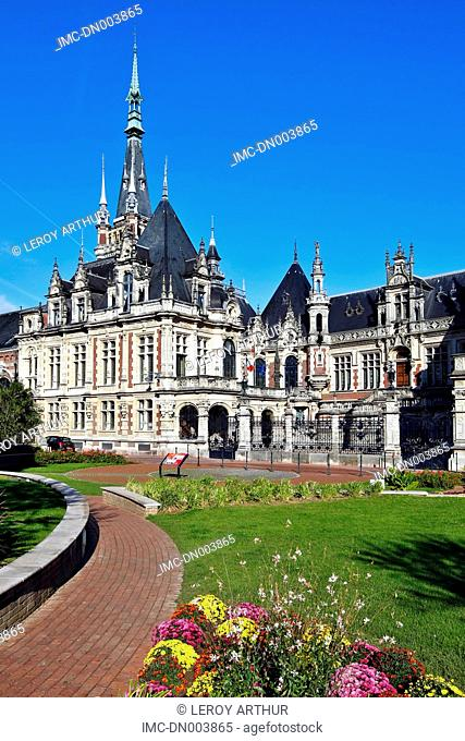 France, Normandy, Fecamp, the Benedictine palace, facade