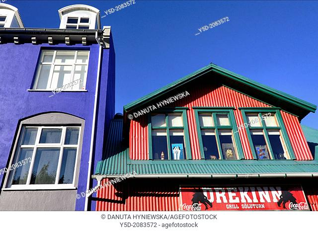 colorful architecture of Reykjavik, Iceland