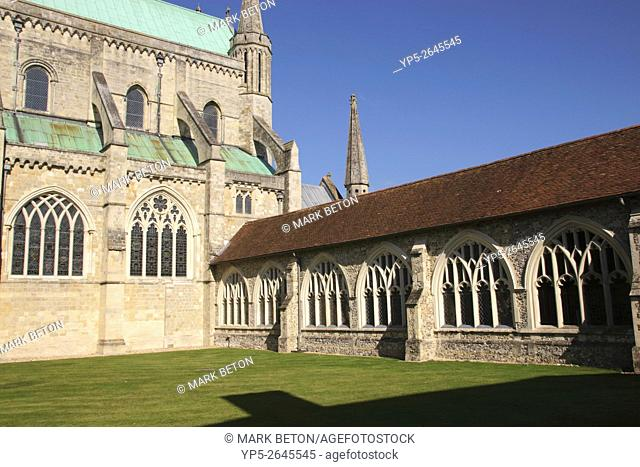Courtyard Chichester Cathedral West Sussex