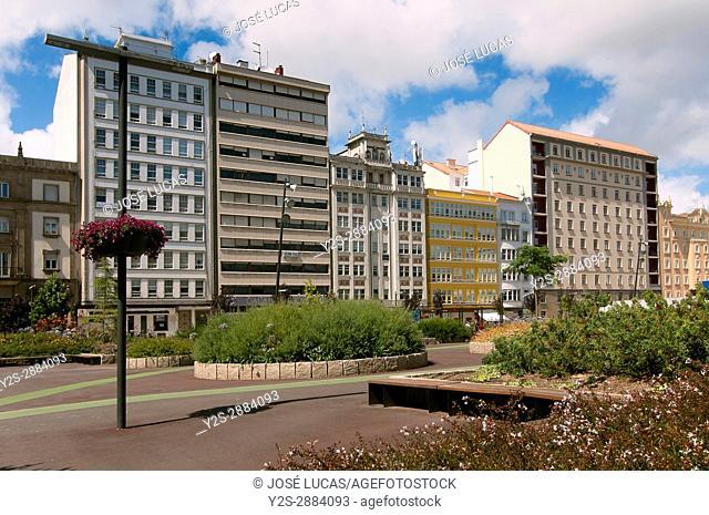 Plaza de Espana, Ferrol, La Coruna province, Region of Galicia, Spain, Europe