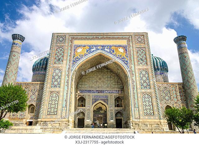 Registan, Samarcand, Uzbekistan, Asia