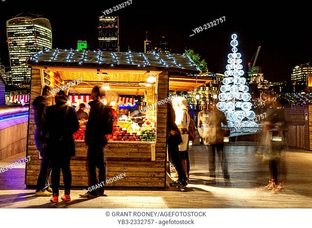 A Cheese Stall At More London Christmas Market, London, England