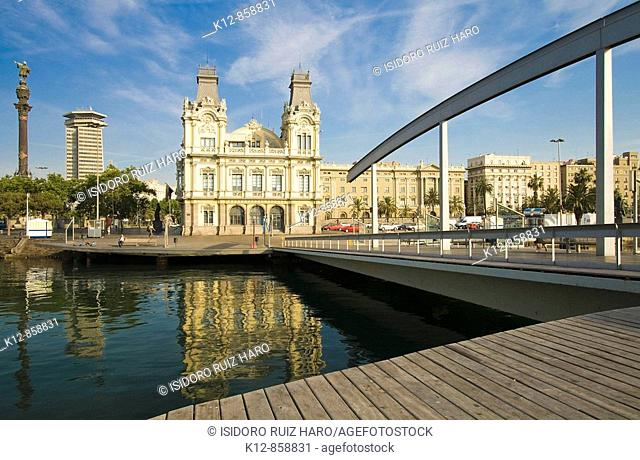 Rambla de Mar. Port Vell, Barcelona. Spain