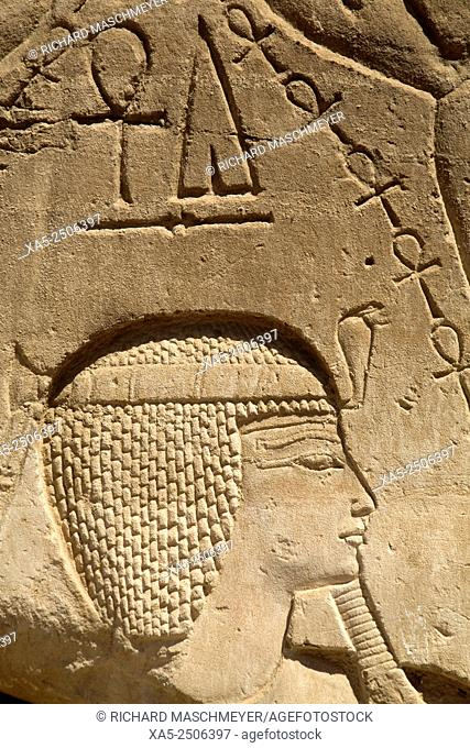 Bas-relief of Seti I, Karnak Temple, Luxor, Egypt