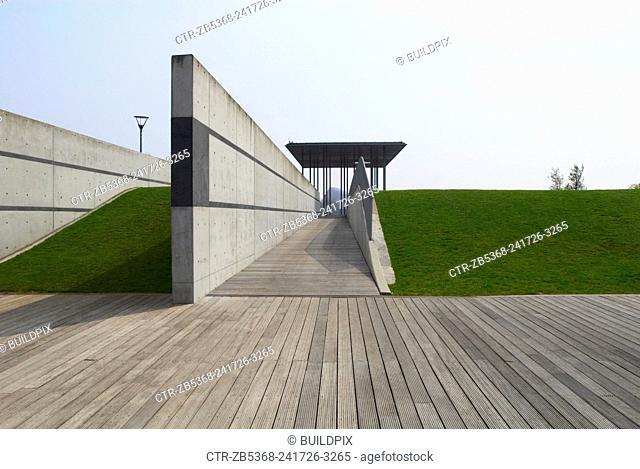 Pavilion of Remembrance at Thames Barrier Park, East London, UK