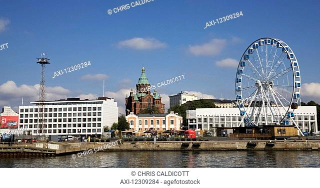 Historic waterfront, harbour, skyline, cathedral, wheel, sea, Helsinki, Finland