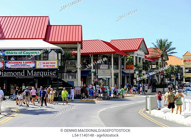 Shopping area downtown Grand Cayman Islands Caribbean Georgetown