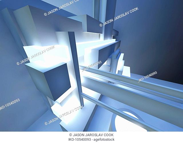 Abstract three dimensional architectural structure