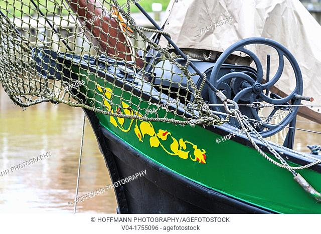 Detail of the bow of a ship, Germany, Europe