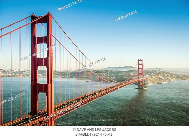 Golden Gate Bridge over San Francisco Bay, California, United States