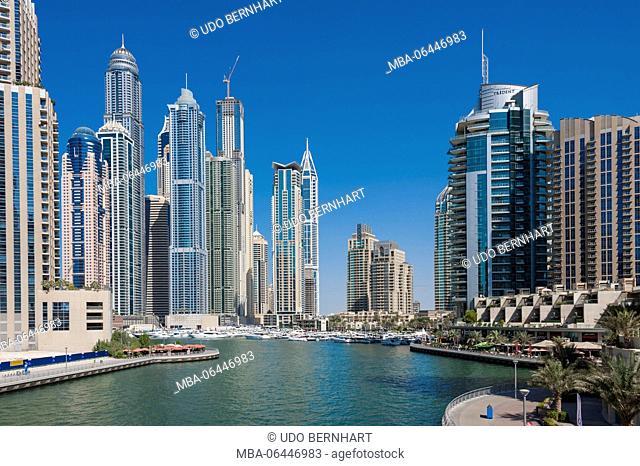 Arabia, Arabian peninsula, the Persian Gulf, United Arab Emirates (VAE), Dubai, Dubai Marina