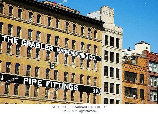 New York City (USA): an old company's building in TriBeCa