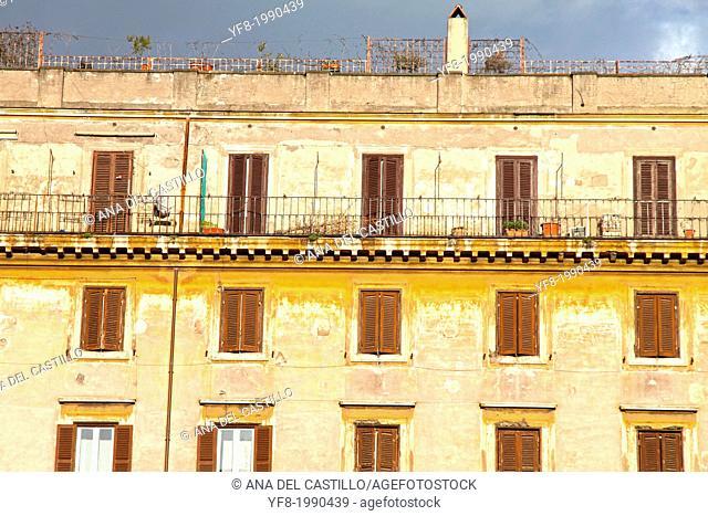 Facades in Rome Italy