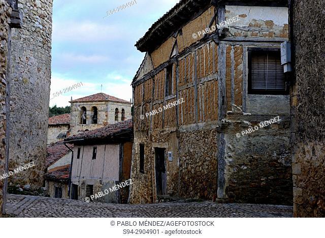 Rustic street of Calatañazor, Soria, Spain