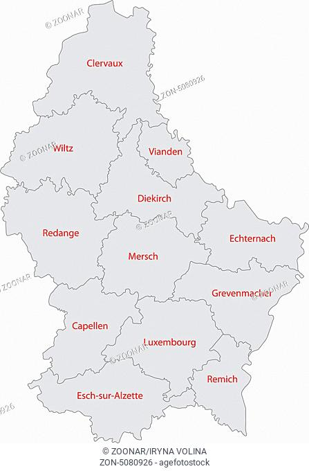 Grey Luxembourg map