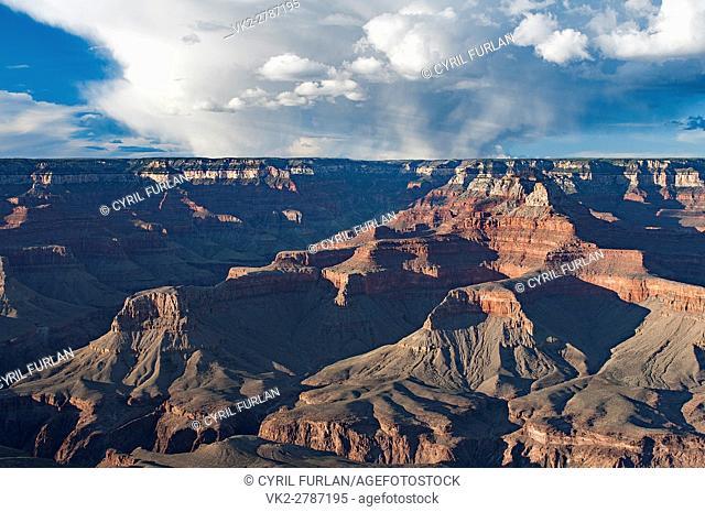 Yaki Point Evening Light, South Rim Grand Canyon,