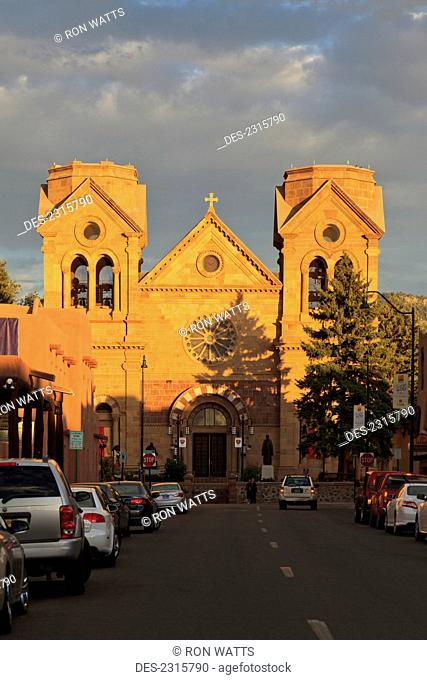 Usa, New Mexico, Commonly Known As Saint Francis Cathedral; Santa Fe, Cathedral Basilica Of Saint Francis Of Assisi